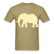 T-Shirts ~ Men's T-Shirt ~ Camouflage Elephant Flex Print Graphic Tee