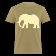 T-Shirts ~ Men's T-Shirt ~ Camouflage Elephant Flex Print Graphic Tee
