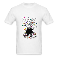 T-Shirts ~ Men's T-Shirt ~ Piano Music Makes Everything Bright and Beautiful