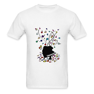 Piano Music Makes Everything Bright and Beautiful - Men's T-Shirt