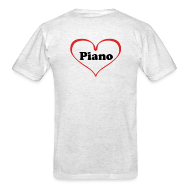 T-Shirts ~ Men's T-Shirt ~ I Love Piano T-Shirt