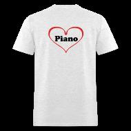 T-Shirts ~ Men's T-Shirt ~ I Love Piano T-Shirt