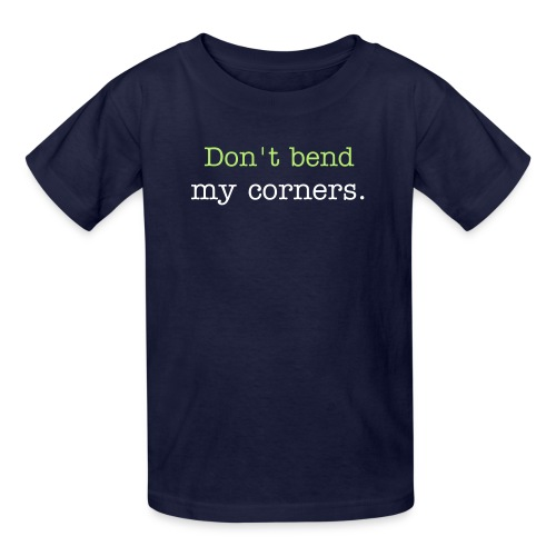 Kids' T-Shirt - Know that feeling you get when you loan your favorite book to someone and they BEND THE CORNERS??  I'm a dog lover, but I hate dog ears. Kids who read do, too. Send out the alert by wearing this awesome t-shirt all around school.  Who's the big kid on campus now?