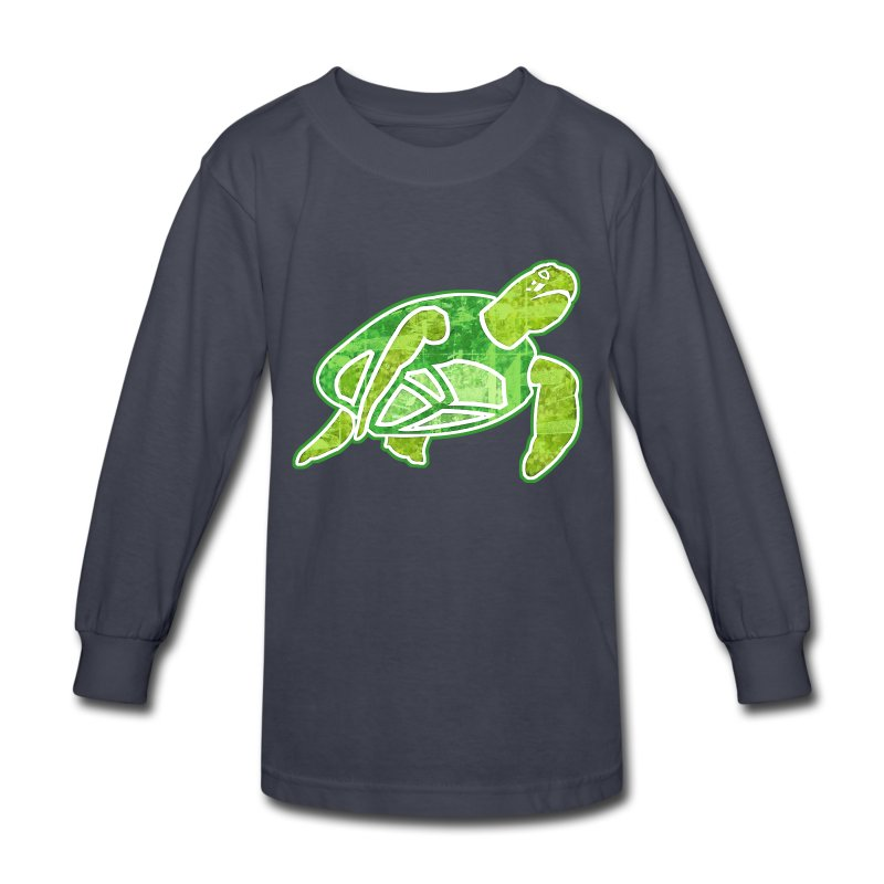 Sea turtle long sleeve shirt spreadshirt for Turtle shirts for men