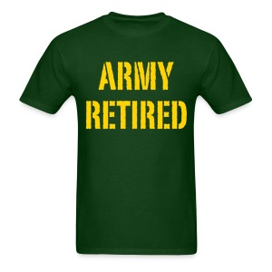 Army retired - Men's T-Shirt