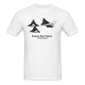 Eagle Ray Wall - Front only - Men's T-Shirt