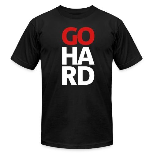 Go Hard tee - Men's Fine Jersey T-Shirt