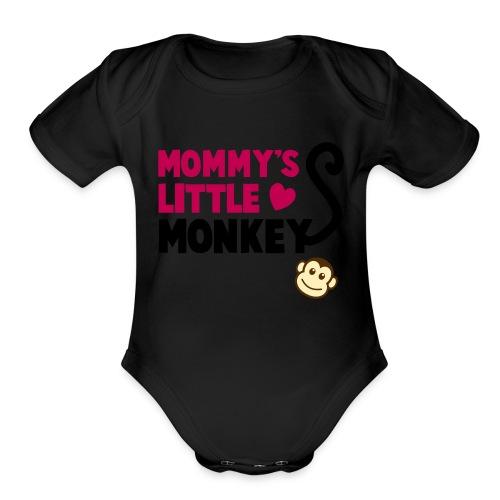 baby monkey - Organic Short Sleeve Baby Bodysuit