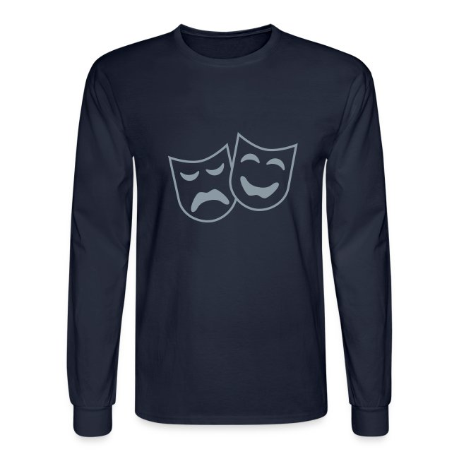 Theatre Arts  Design on mens longsleeve  shirt M.S.S.