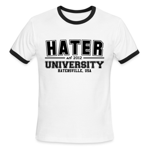 Hater UniversityMen's tee - Men's Ringer T-Shirt