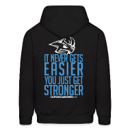 Hoodies ~ Men's Hooded Sweatshirt ~ Stronger | CutAndJacked | Mens hoodie (back Print)