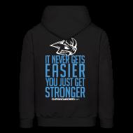 Hoodies ~ Men's Hoodie ~ Stronger | CutAndJacked | Mens hoodie (back Print)