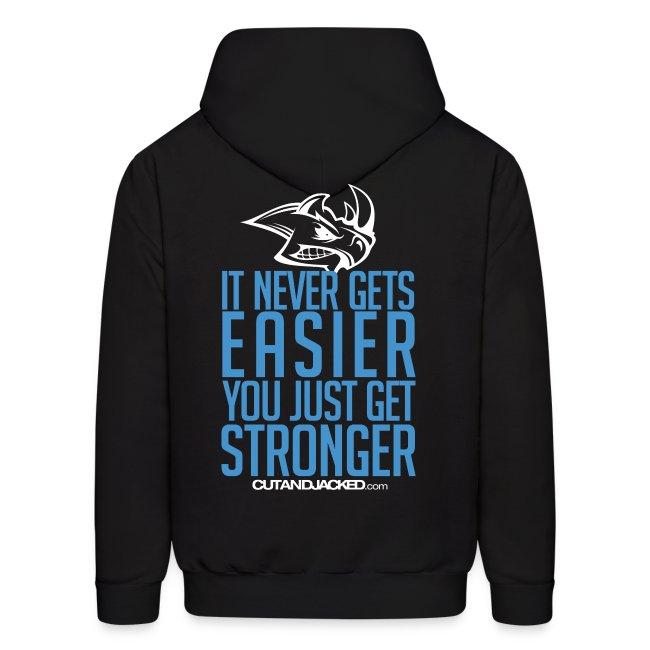 Stronger | CutAndJacked | Mens hoodie (back Print)