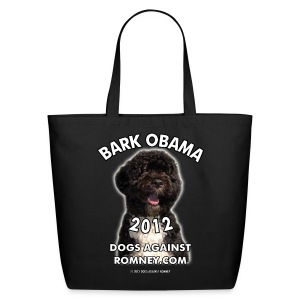 Official Dogs Against Romney Bark Obama 2012 Tote (2-Sided!) - Eco-Friendly Cotton Tote