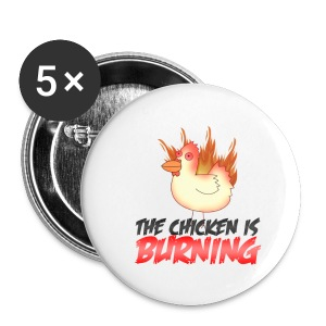 Chicken is Burning Button 5 pack small buttons - Small Buttons