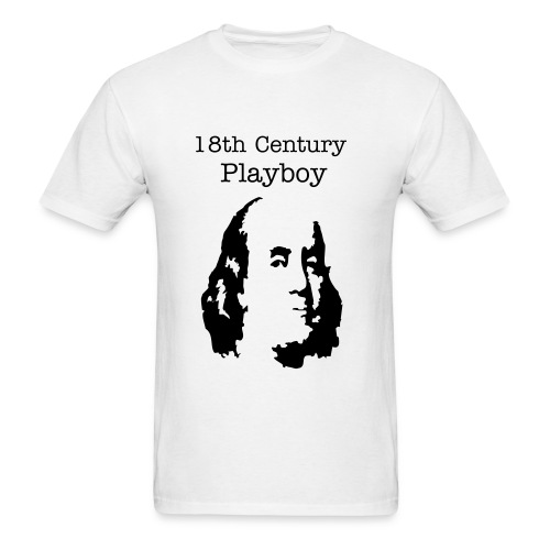 Benjamin Franklin Playboy - Men's T-Shirt