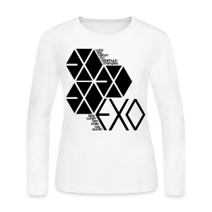 [EXO] Hexagons - Women's Long Sleeve Jersey T-Shirt