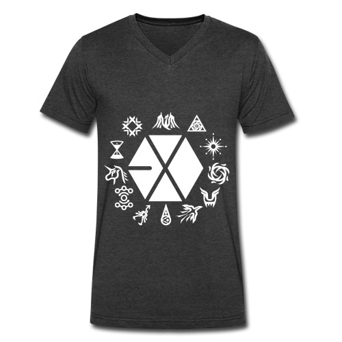 EXO PLANET (White Anonymous Ver.) - Men's V-Neck T-Shirt by Canvas