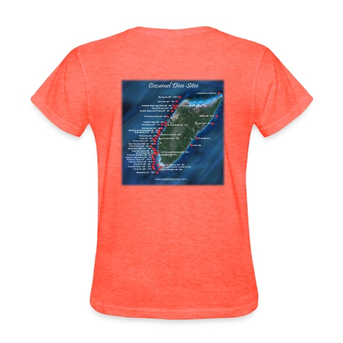 Dive Sites Front Only Standard - Women's T-Shirt