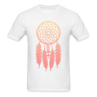 T-Shirts ~ Men's T-Shirt ~ DIP DYE DREAMCATCHER - MENS TSHIRT