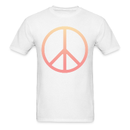 T-Shirts ~ Men's T-Shirt ~ DIP DYE PEACE SIGN - MENS TSHIRT