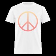 T-Shirts ~ Men's T-Shirt ~ DIP DYE PEACE SIGN - MENS TSHIRT
