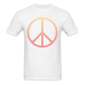 DIP DYE PEACE SIGN - MENS TSHIRT - Men's T-Shirt