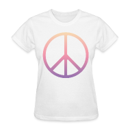 T-Shirts ~ Women's T-Shirt ~ DIP DYE PEACE SIGN - LADIES TSHIRT