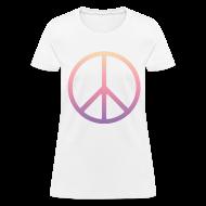 Women's T-Shirts ~ Women's T-Shirt ~ DIP DYE PEACE SIGN - LADIES TSHIRT