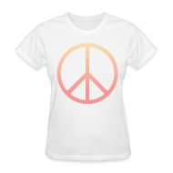 Women's T-Shirts ~ Women's T-Shirt ~ DIP DYE PEACE SIGN - LADIES TSHIRT