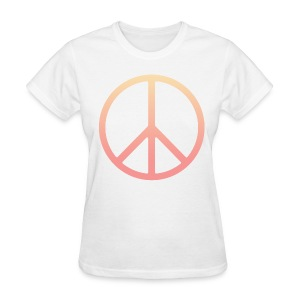 DIP DYE PEACE SIGN - LADIES TSHIRT - Women's T-Shirt