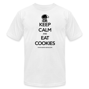 Eat Cookies AA Unisex Dark Text - Men's T-Shirt by American Apparel