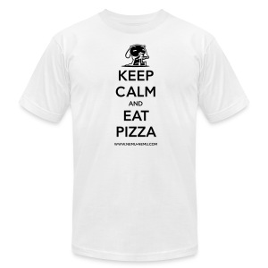 Eat Pizza AA Unisex Dark Text - Men's T-Shirt by American Apparel