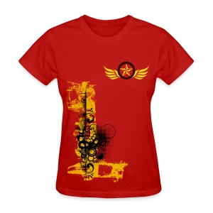 Graffiti Winged Hope (Women's) - Women's T-Shirt