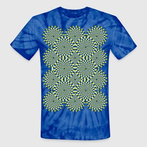 Psychedelic Moving Optical Illusion - Unisex Tie Dye T-Shirt