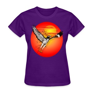 Augur meets the morning son-oval - Women's T-Shirt
