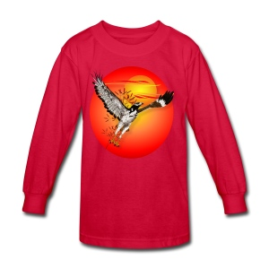 Augur meets the morning son-oval - Kids' Long Sleeve T-Shirt