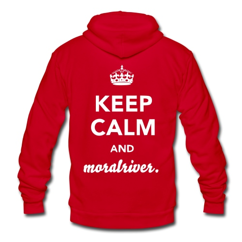 Keep Calm & Moral River Unisex Zip up Hoodie - Unisex Fleece Zip Hoodie