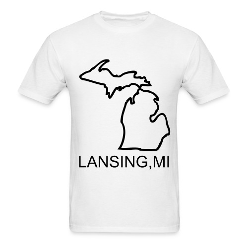 Lansing MI White T - Men's T-Shirt