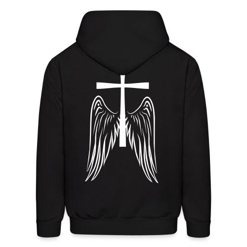 Cross w/ Wings Hoodie - Men's Hoodie