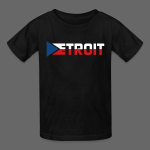 Detroit Czech Flag - Kids' T-Shirt