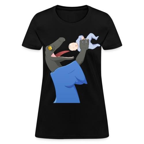 Raptor Jesus eats baby - Women's T-Shirt