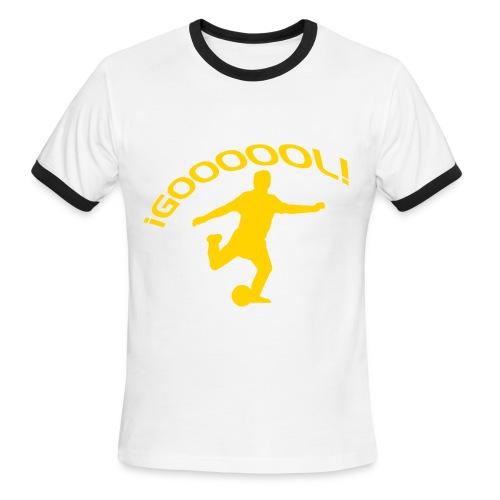 soccer kick brown - Men's Ringer T-Shirt