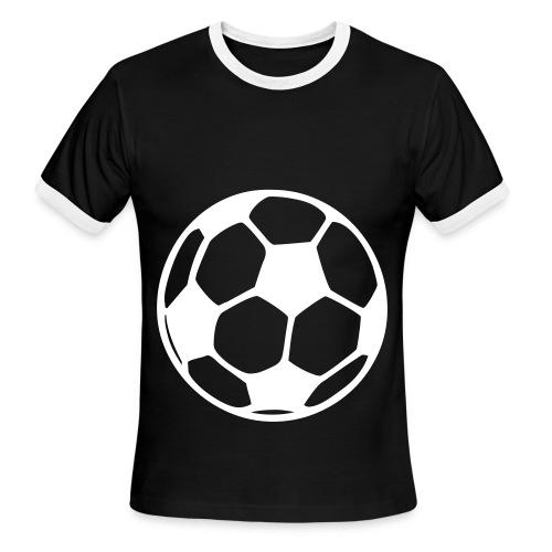 soccer ball black - Men's Ringer T-Shirt