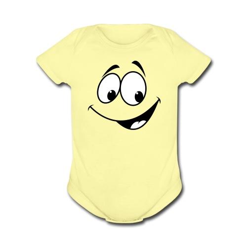 Charlie Face - Organic Short Sleeve Baby Bodysuit