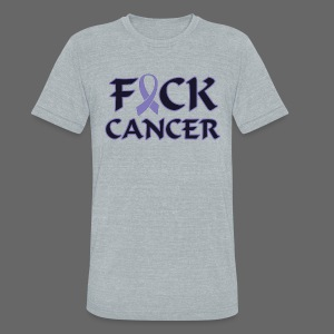 F&ck Cancer - Unisex Tri-Blend T-Shirt by American Apparel
