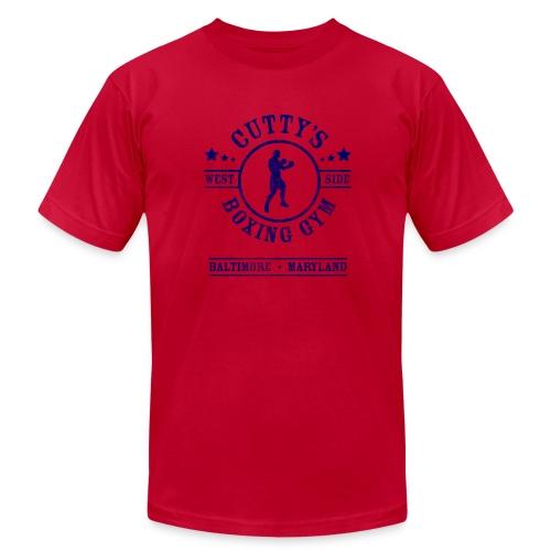 Cutty's Boxing Gym T-Shirt (Light Blue) - Men's Fine Jersey T-Shirt