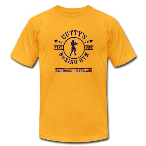 Cutty's Boxing Gym T-Shirt (Gold) - Men's Fine Jersey T-Shirt