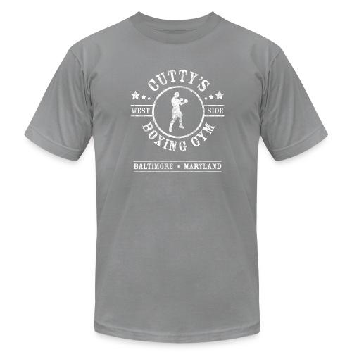 Cutty's Boxing Gym T-Shirt (Slate) - Men's Fine Jersey T-Shirt