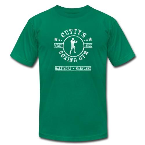 Cutty's Boxing Gym T-Shirt (Kelly Green) - Men's Fine Jersey T-Shirt